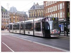 Silver tram (streamer020nl) Tags: holland netherlands amsterdam silver centre nederland 9 tram fox paysbas centrum xfiles strassenbahn niederlande gvb damrak 2016 rokin 050216 binnenstad 2097 5feb16 lijn9