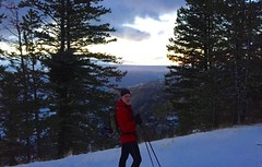 Sunset Xcountry Ski and Waha Burger (Doug Goodenough) Tags: ski skiing xcountry cross country backcountry jen scott waha idaho sunset vista view winter january jan 2016 16 drg53116 drg53116ski drg531