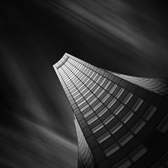 The wedge (Turnvater Janosch) Tags: longexposure blackandwhite tower monochrome architecture skyscraper germany saxony leipzig sachsen highrise uniriese cityhochhaus ndfilter neutraldensityfilter nd1000 nd110 nd30 panoramatower