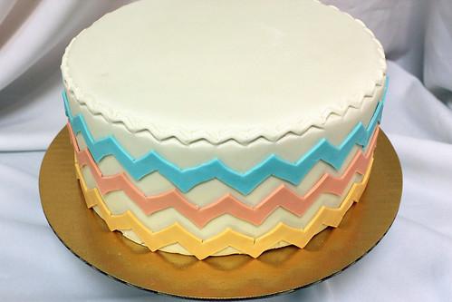 Chevron Designer Cake