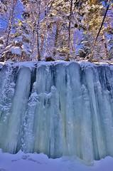 Pillar Texture (evanlochem) Tags: new winter cliff snow canada cold ice water frozen waterfall january brunswick trail cave springfield frigid midland maritimes