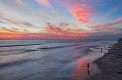 Just breathe... (Lisa Sabater-Mozo) Tags: light sunset sky beach weather warm colours sandiego sandy chaser gofishing