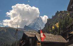 Zermatt (ccr_358) Tags: summer panorama mountain alps clouds landscape schweiz switzerland nikon scenery day estate view suisse flag postcard sunny august agosto zermatt matterhorn svizzera alpi montagna ch cartolina valais swissalps cervino 2015 visp confoederatiohelvetica mattertal swissconfederation d5000 ccr358 cantonvallese nikond5000