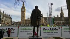 Frack & Go in Parliament Square #frackminster (Julie Ramsden) Tags: westminster greenpeace parliamentsquare gandhi fracking frackgo frackminster
