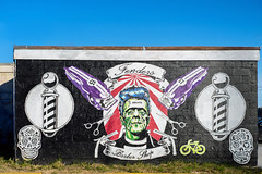 The Barber Shop (eddie_sanchez21) Tags: haircut colors wall skulls graffiti barbershop frankenstein clippers