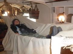 Jasim in hammock aboard HMS Warrior (alanaplin) Tags: ff hmswarrior