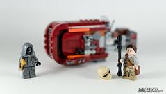 REVIEW LEGO Star Wars 75099 Rey's Speeder 23 - HelloBricks (HelloBricksCom) Tags: star starwars lego review rey wars legostarwars speeder tfa episode7 episodevii 75099 theforceawakens hellobricks