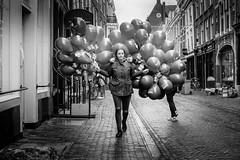 Balloon girl (Joris_Louwes) Tags: netherlands utrecht nl