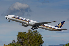 Singapore Airlines Boeing 777 9V-SWA (j.borras) Tags: barcelona airplane singapore being bcn airlines takeoff 777 runway sia spotting departing lebl
