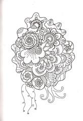 Tangle 223 (kraai65) Tags: flowers drawing doodle tangle zentangle zendoodle