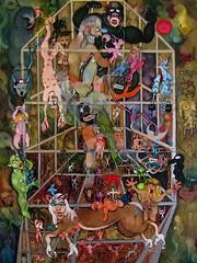 LE SCULPTEUR (L'OEIL DU POURQUOI) (Claude Bolduc) Tags: visionaryart artsingulier surrealism artbrut outsiderart intuitiveart selftaugh lowbrow