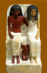 Statue of Pawer, his wife Mut and their sun Samut, New Kingdom, 18th Dynasty, 1480 - 1390 BC /   ,       ,  , VIII , 1480-1390. . . (SanctusBulgaria) Tags: egyptianart egyptiansculpture egyptianfamily