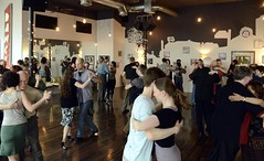 scene from last week's (3/6/16) #sundayafternoontangopractica  reminder: Daylight Savings Time starts today! (tangocyclist) Tags: oregon portland dance argentinetango uploaded:by=instagram viscountstudio