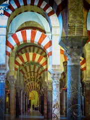 Passages (Colormaniac too (trying to catch up)) Tags: mystery architecture spain colorful interior passages mosque textures cordoba marble andalusia passageway flypaper colonnades