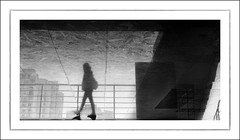 F_DSC7559-3-BW-Nikon D800E-Nikkor 28-300mm-May Lee  (May-margy) Tags: portrait bw reflection silhouette stairs taiwan rails    busterminal  buildingblocks        iamback  repofchina corrridor newtaipeicity maymargy nikkor28300mm nikond800e maylee streetviewphotographytaiwan  linesformandlightandshadows fdsc75593bw