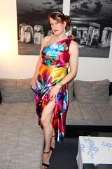 Spring (Rikky_Satin) Tags: sexy floral dress sweet silk crossdressing prom sissy satin crossdresser