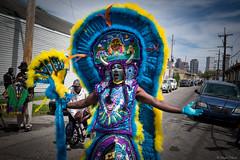 Spyboy! Mardi Gras Indian (michael.mu) Tags: leica carnival 35mm costume louisiana outdoor neworleans streetphotography africanamerican indians mardigras supersunday m240 colorefexpro spyboy leicasummicron35mmf20asph leicasummicronm1235mmasph