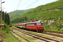 Fast train 7622 Sofia - Vidin (Krali Mirko) Tags: train railway bulgaria locomotive skoda bdz  lakatnik     68e4