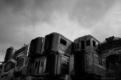 Piled (soulman_id) Tags: bw white black train landscape takumar fujifilm smc 2435