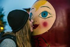 Kisses (Melissa Maples) Tags: park sculpture woman art statue tongue turkey evening nikon kiss funny asia dusk trkiye joy antalya blonde nikkor vr afs matrushka  18200mm  f3556g matroshka  18200mmf3556g d5100 russianpark