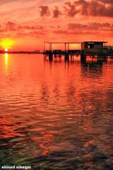 .. Cloudy Sunrising .. Bahrain (Ahmed Albaqer  ) Tags: orange seascape lens 50mm bahrain d750 nikkor 18 bahraini muharraq nikoncamera sunrising  dair   bahrainsun