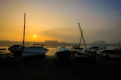 Walney channel (Graham - bell) Tags: college scale sunrise boats fishing north channel furness ddh barrowinfurness walney