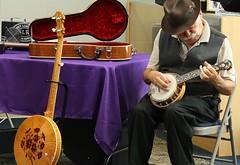 Bluegrass Festival (ertolima) Tags: red musician music concert purple bluegrass folk traditional banjo instruments performer picking