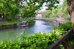 Ljubljanica (E-klasse2010) Tags: bridge trees water leaves river town spring europe outdoor central bank slovenia walkway april ljubljana watercourse ljubljanica