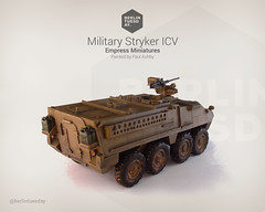 Stryker ICV / Military Vehicle / Empress Miniatures (berlintuesday) Tags: painting army miniatures model painted military vehicle empress wargame tabletop wargames stryker wargaming