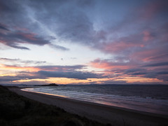 Sunset over Fidra (jason-l) Tags: sunset sea beach island coast forth firthofforth eastlothian fidra
