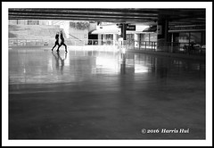 In The Same Pace  - Robson Square XT3164e (Harris Hui (in search of light)) Tags: street bw canada vancouver 35mm mono blackwhite fuji bc dancers dancing candid space streetphotography silhouettes icerink richmond negativespace fujifilm digitalbw emptiness robsonsquare synchronized candidphotography streetcandid standardlens shallwedance samedirection xt1 fujix mirrorless samepace harrishui vancouverdslrshooter sameinterest fujixseries digitalmirrorlesscamera fujixcamera fujixt1 fujixambassador fuji35mmf2 inthesamepace