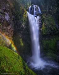 Rainbow's End (Candace Dyar Photography) Tags: trees water creek forest landscape photography waterfall washington spring rainbow state falls candace national gifford pinchot dyar