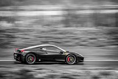 Ferrari 458 (Alexis Cayot) Tags: alexis black canon track noir file ferrari 200 desaturation 5d 70 circuit ef markii vitesse speedlite 458 partielle cayot