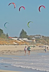 Perth, Mullaloo Beach - Surf Kites & Walkers a (zorro1945) Tags: sea beach walking oz dunes tide australia kitesurfing kites perth wa walkers westernaustralia kitesurfers mullaloo