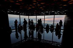 Dubai Sunset Spectators (Senator685) Tags: nikon dubai uae nikkor unitedarabemirates atthetop 1424 d810 burjkhalifa