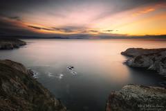 atardece en la baha de Plentzia (Mimadeo) Tags: ocean longexposure sunset sea seascape water clouds bay rocks plentzia gorliz euskadi vizcaya basquecountry paisvasco barrika plencia silkywater