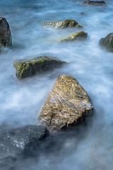 Stepping Stones (www.karltonhuberphotography.com) Tags: ocean longexposure seascape nature water mystery outdoors morninglight rocks colorful random patterns relaxing peaceful pacificocean socal dreamy southerncalifornia naturalworld theoc californiacoastline 2016 therapeutic southcounty flowingwater verticalimage silkywater tidalsurge shorelinerocks karltonhuber