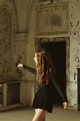 2014 (Laurene Smith) Tags: selfportrait texture abandoned gold longhair indoor faceless