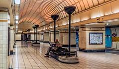Metro Man (John's taken it. Peace) Tags: station paper underground lights metro artdeco gantshill