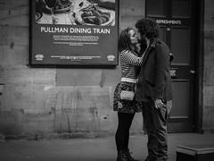 Pullman (Richard Walker Photography) Tags: people blackandwhite station kiss tender