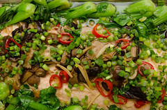 Chef Alex Ong 4/19-4/20/16 (UMassDining) Tags: fish alex vegetables salmon vegetable chef guest ong