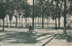 SE Monroe Frenchtown MI DETROIT BEACH CLUB Waterfront Lagoon Beach & Park Area Detroit Beach was a Christian Assembly-Colony with Homes and Summers places EXCLUSIVE & RESTRICTED1 (UpNorth Memories - Donald (Don) Harrison) Tags: travel usa heritage history tourism st vintage antique michigan postcard memories restaurants hotels trailer roadside upnorth steamship cafes excursion attractions motels mackinac cottages cabins campgrounds city bridge island car upnorthmemories rppc wonders big railroad michigan memories mac state parks entertainment natural harrison roadside ferry travel don tourist mackinaw stops upnorth straits ignace