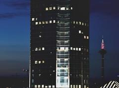 shy buildings. (mybeardandmypenguin) Tags: tower skyscraper buildings long exposure shy turm langzeitbelichtung