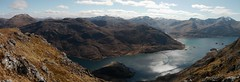 Loch Hourn and Barrisdale Bay from Druim Fada (Mumbles Head) Tags: mountains scotland highlands grahams glenelg munros corbetts lochhourn
