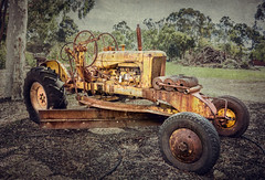 The Old Yellow Tractor (B.M.K. Photography) Tags: old vintage rusty weathered textured vintagetractor yellowtractor