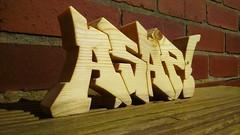 ASAP! (MM ) Tags: wood graffiti handmade grain carving custom spruce homedecor ttk madeinengland bespoke asap 38mm madetoorder woodenletters thosethatknow72