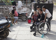 Ramesh was unable to return home to his family after the earthquake (Handicap International UK) Tags: nepal earthquake kathmandu survivors disability
