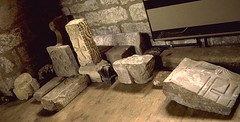 carved stones at Masham church, Yorkshire (Hipster Bookfairy) Tags: sculpture church tomb funerary