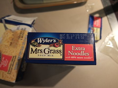 Mrs. Grass Chicken Noodle Soup. Now with Extra bugs. (RickDrew) Tags: food chicken grass soup insects bugs noodle mrs contaminated wylers wyler