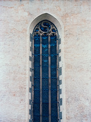wholly holey holy window (itawtitaw) Tags: above blue color building 120 mamiya film church window glass lines stone wall architecture facade analog mediumformat reflections outside diy pattern kodak symmetry scan lookup ornaments epson dots portra minimalist fassade holey rz67 c41 blaubeuren 180mm portra400 v700 tetenal colortec rz67pro sekorz180mm45w